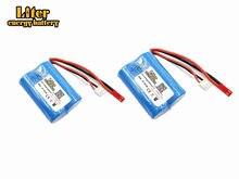 2 pcs 7.4 V 1300 mAH Lipo Bateria Para Huanqi 827 871 MJX T10 T11 T34 7012 barco RC Lipo bateria 7.4 V 1300 mAH 20C 18500