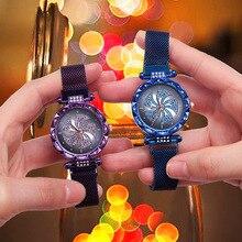 Women Lucky Hot Wheels Watches 2019 Luxury Diamond Female Wristwatch Ladies Stainless Steel Magnet Quartz Clock relogio feminino