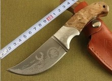 High Quality Fixed Blade Knife wood handle tactical folding knife hunting camping outdoors knife
