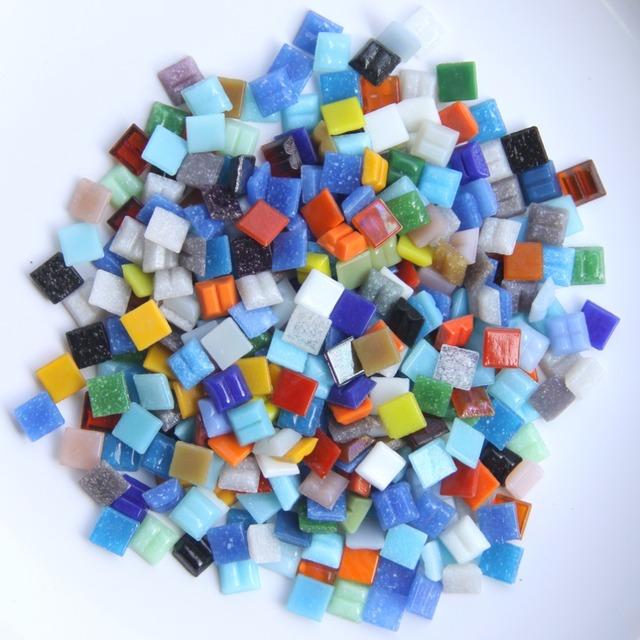 200g/280 pcs 10x10mm 3/8 Inch Mix Quartz Mosaic