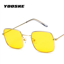 YOOSKE Metal Sunglasses Men Women Retro Sun Glasses Fashion