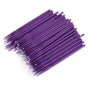 Image 1 - 100 adet/şişe Microblading mikro fırçalar Swab Lint ücretsiz dövme kalıcı malzemeleri pincel maquiagem aplicador de sombra ojos