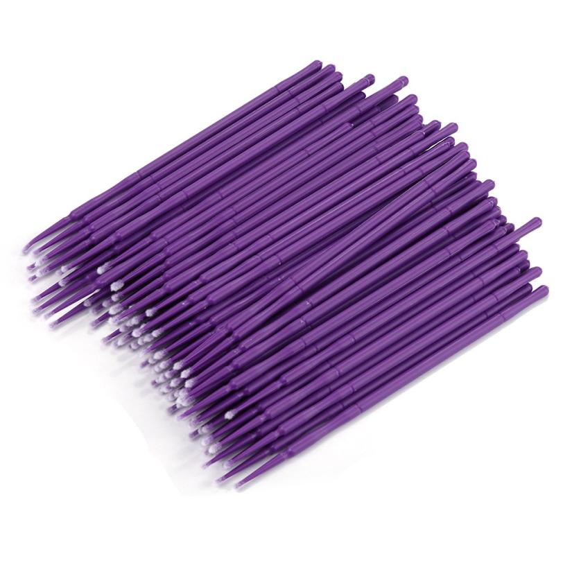 100Pc/ Bottle Microblading Micro Brushes Swab Lint Free Tattoo Permanent Supplies pincel maquiagem aplicador de sombra ojos-in Tattoo accesories from Beauty & Health