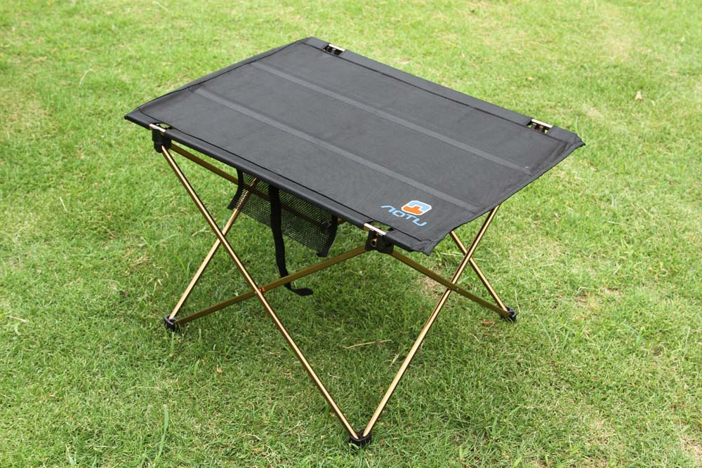 Outdoors Table For Camping Ultra-light Aluminium Alloy Picnic Folding Table Outdoor Tavel Portable Tables Black ...