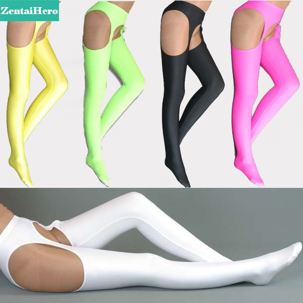 Free Shipping New Style High Quality Lycra Spandex Adult Cheap Price Sexy Open Crotch Long Stockings