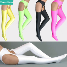 Free Shipping New Style High Quality Lycra Spandex Adult Cheap Price! Sexy Open Crotch Long Stockings Halloween 6Colors LS101010