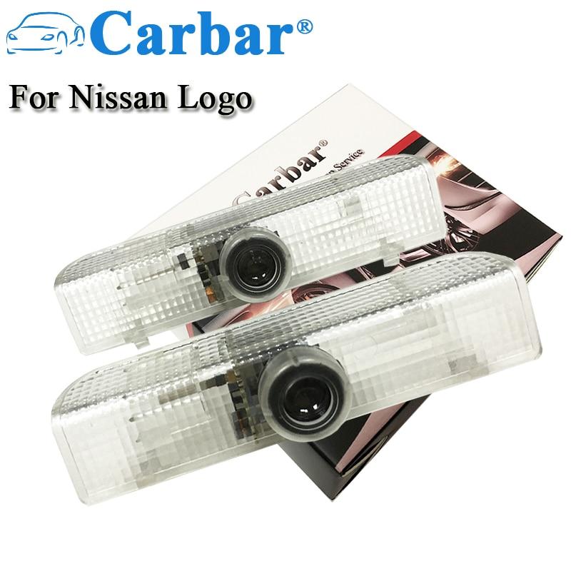 Carbar# LED Door Step Courtesy Light Laser Shadow Logo Projector Lamp For Nissan Armada Maxima 04-17 Quest 04-16 Titan 03-16