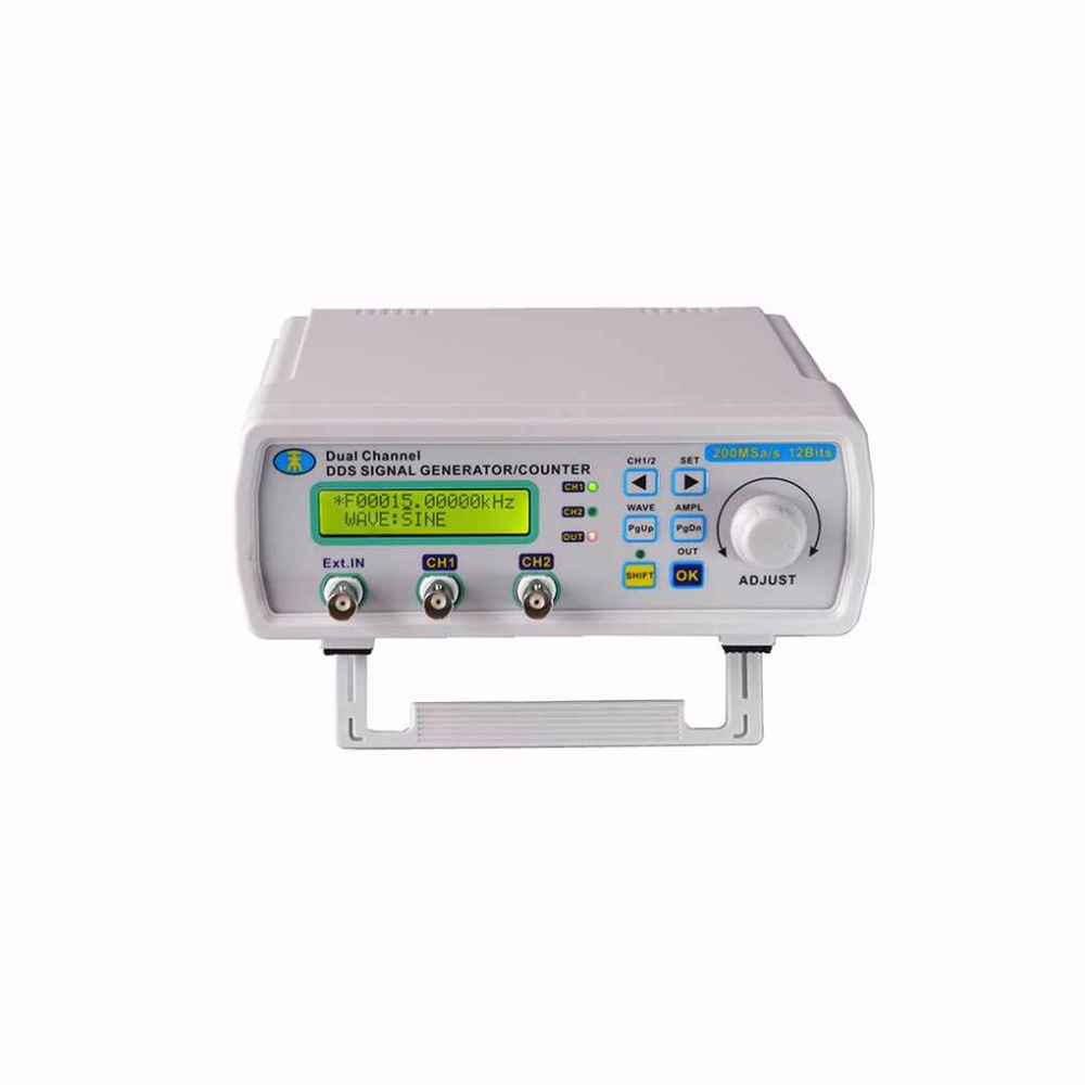 25MHz Digital DDS Dual-channel Signal Source Generator Arbitrary Waveform Frequency Meter 200MSa/s original hantek1025g pc usb function arbitrary waveform generator 25mhz arb wave 200msa s dds usbxitm interface hantek 1025g