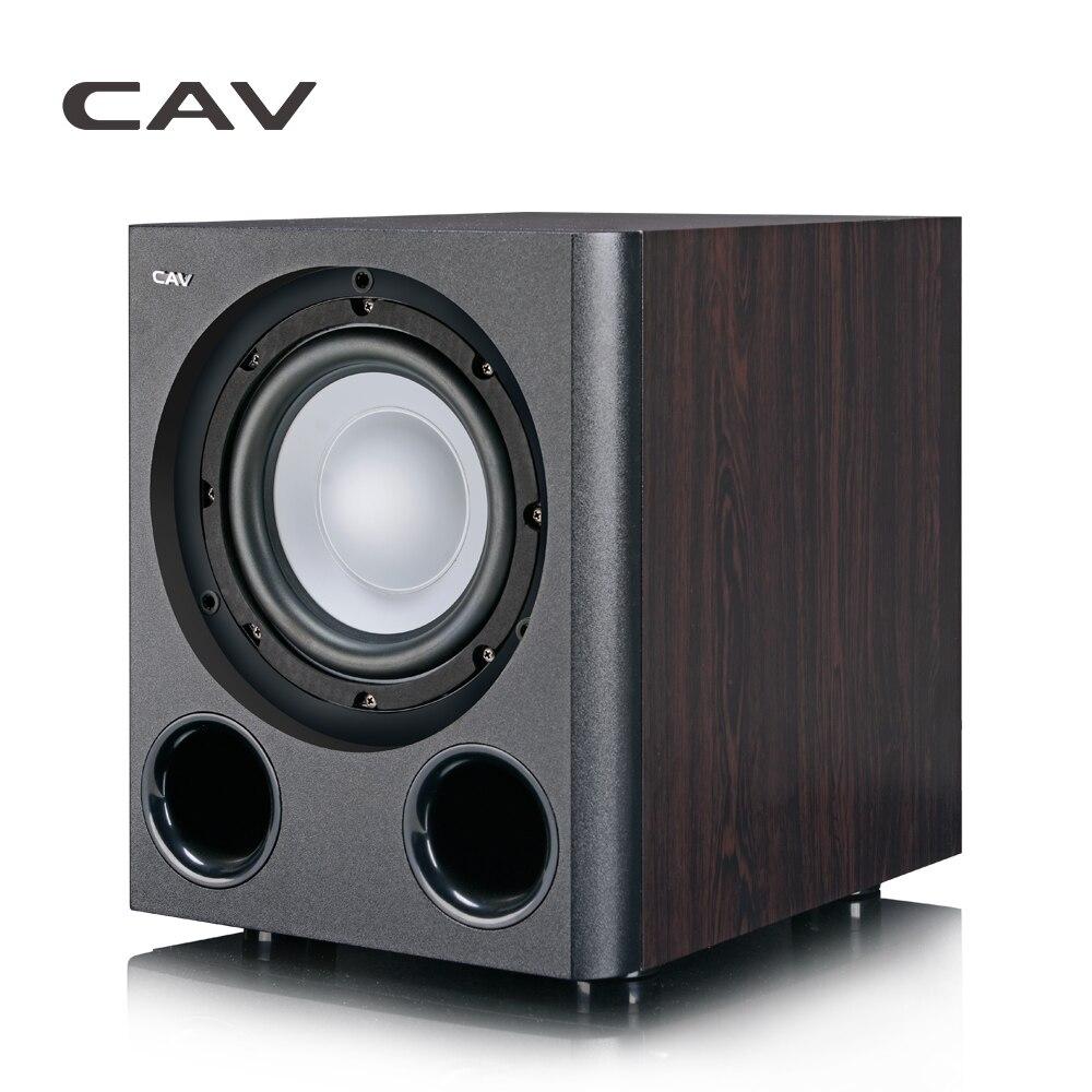 CAV Q3BN Subwoofer Home Theater 5.1 Tipo Più Leggero-Inch Subwoofer Amplificati Legno Bass Home Theater Stereo Suono Profondo Bass Speaker