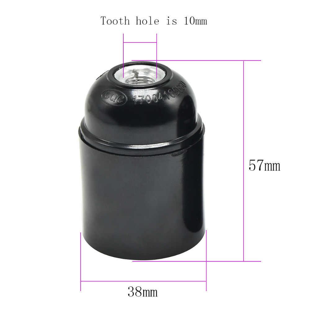 E27 гнездо VDE бакелитовый держатель лампы Винтаж винт лампы баз весь зуб с кольцом самоблокирующимся Ретро подвеска, патрон лампы 3 шт