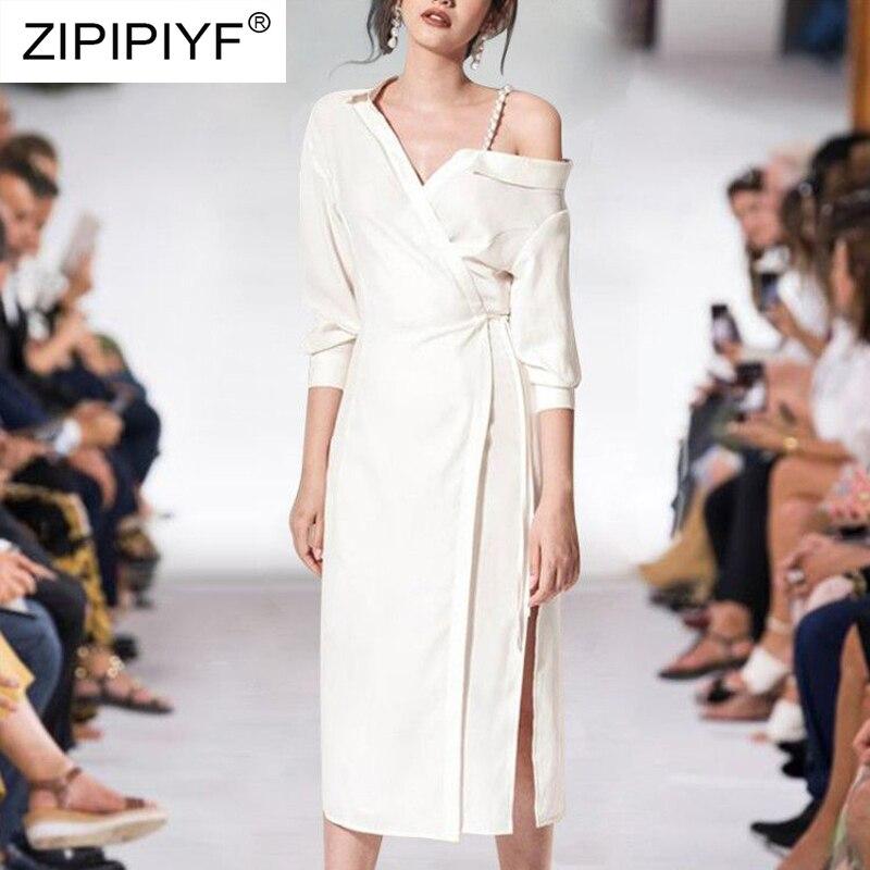 Femme Élégante Femmes Robes Robe Mode Encolure 2019 Noir Beige Et Moulante noir Printemps Chemise Blanc K284 Été Solide Sexy vZqvtBwPx