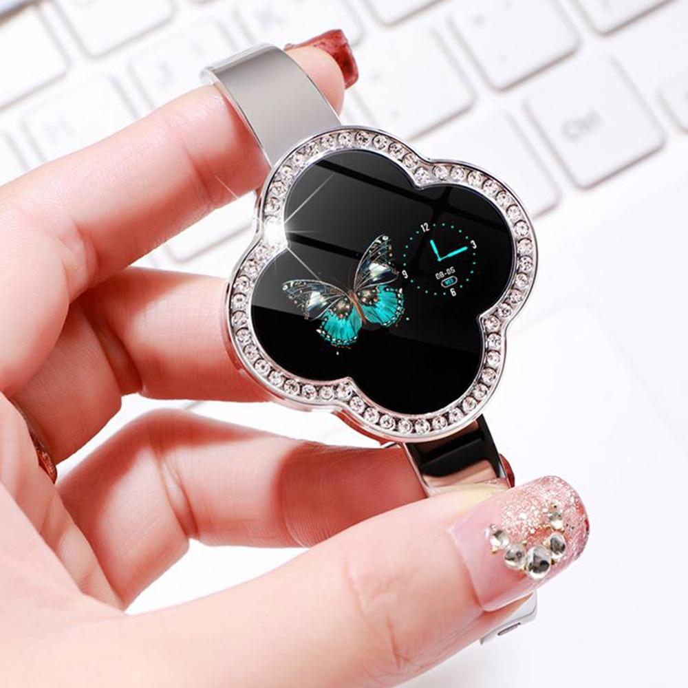 Timethinker S6 femmes montre intelligente Hombre dame Smartwatch Reloj pression artérielle moniteur de fréquence cardiaque Fitness Tracker montres Bling-in Montres connectées from Electronique    1