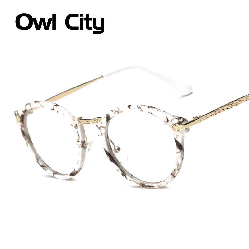 ᗚModa gafas marco mujer lente transparente Nerd glasses Leopard ...