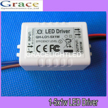5pcs/lot 1-5x1W LED driver 1x1W 2x1W 3x1W 4x1W 5x1W External power supply transformers for ceiling light lamps(China)
