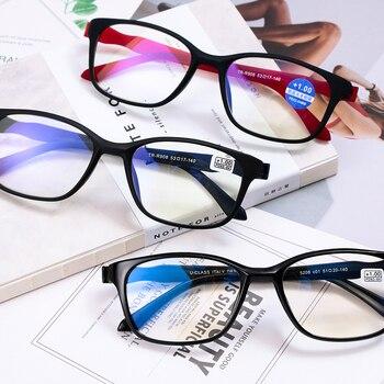 Unisex Diopter Vision Care Elders Reading Glasses Folding Magnifying Eyewear Ultralight Transparent Rimless Eyeglasses +1.0~+4.0