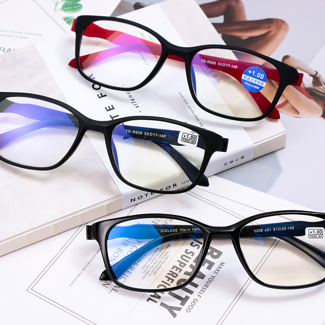 fbabdc467906 Unisex +1.0~+4.0 Diopter Vision Care Magnifying Eyewear Reading Glasses  Lightweight Transparent Rimless Elders Reading Glasses