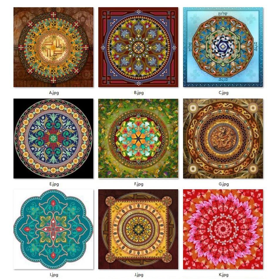 5D mosaic needlework DIY diamond painting kits rhinestone stitch embroidery Universe Meditation Mandala Fantasy Series in Diamond Painting Cross Stitch from Home Garden
