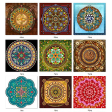 5D mosaic needlework DIY diamond painting kits rhinestone stitch embroidery Universe Meditation Mandala Fantasy Series