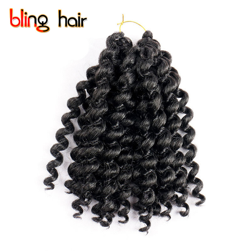 Bling Hair Synthetic Bounce Twist Crochet Braiding Hair Extensions for Wand Curl Braids  ...