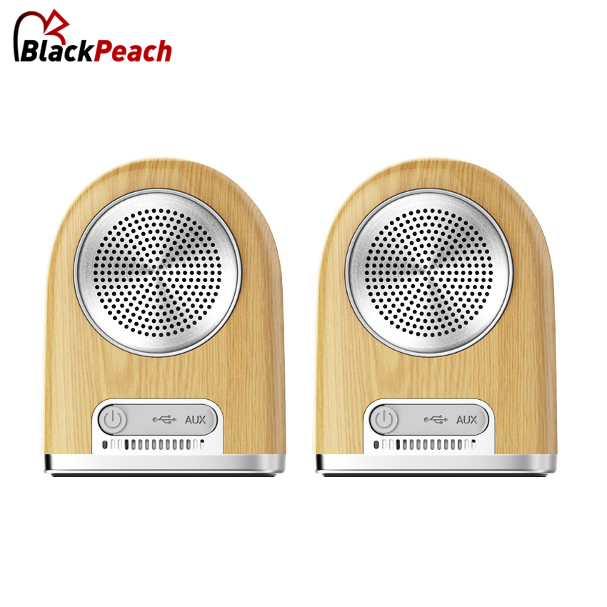 Original OVEVO Tango D10 Dual Wireless Bluetooth Speaker Mini Magnetic suction outdoor speakers 360 degree panoramic play wood