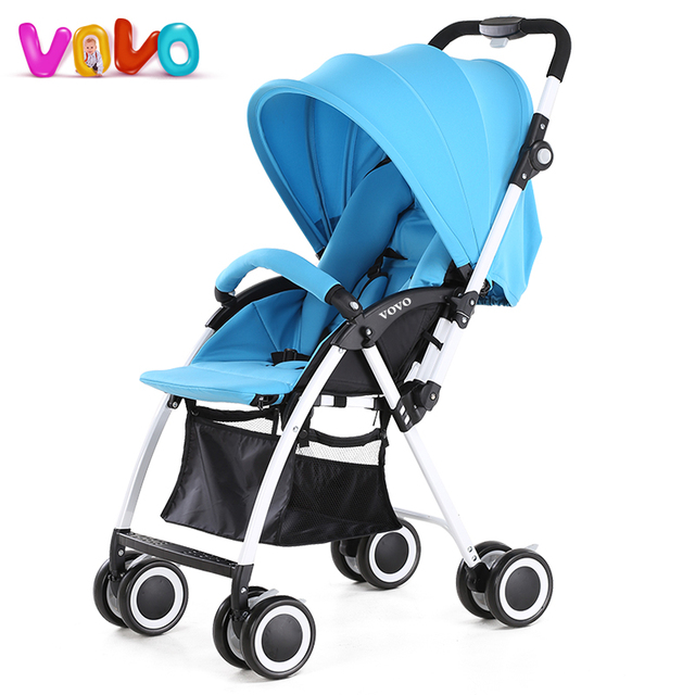 VOVO Baby Stroller High Landscape Baby Carriage For Newborn Infant Sit and Lie Four Wheels