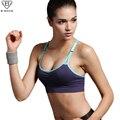 B.BANG Sexy mulheres Push Up Bra camisas de esportes para Yoga correndo ginásio de Fitness Patchwork Tops para meninas e mulheres ajustável alça do sutiã