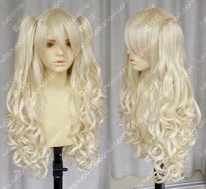 New Vocaloid / seeU light blonde cosplay long curly wig(China)