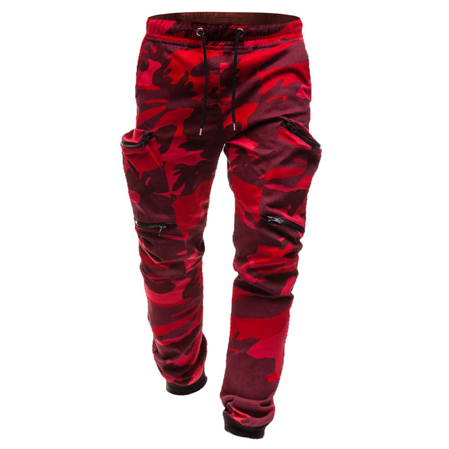Red Camo Joggers Pants