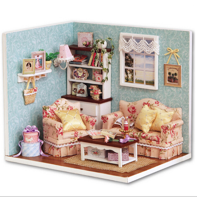 homemade dollhouse furniture. Build Dollhouse Furniture Cute 3D DIY Reunion With Happiness, Creative Wooden Doll House Education Homemade
