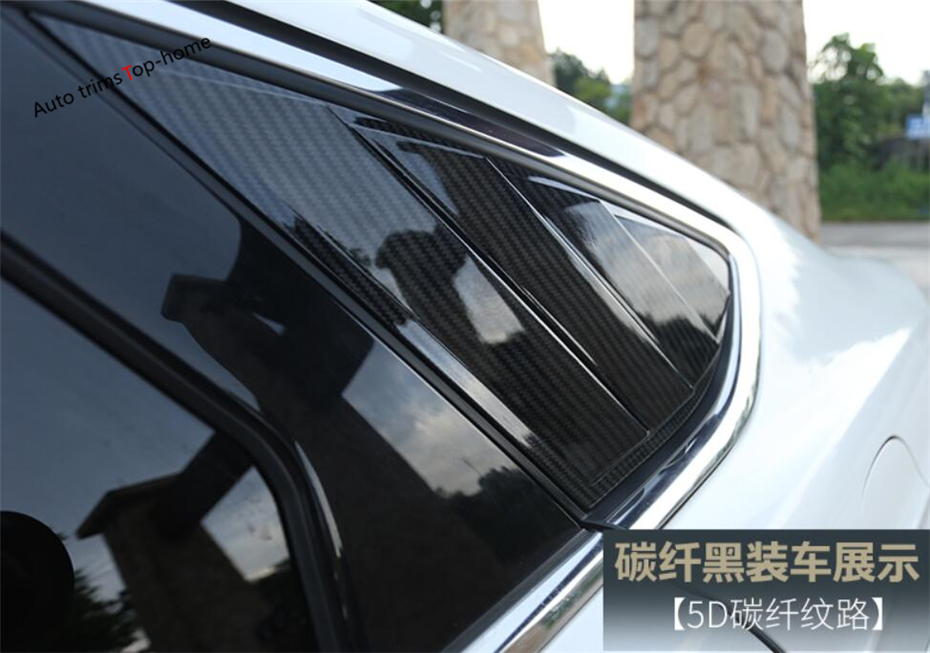 Exterior For Ford Mondeo / Fusion 2013 2014 2015 2016 ABS Rear Tail Window Louvers Scoop Vent Protection Cover Trim 2 Piece купить