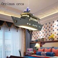 Пульт дистанционного управления Светодиодный Люстра в виде НЛО детской комнаты мальчика спальня светодиодный летающая тарелка lights творче
