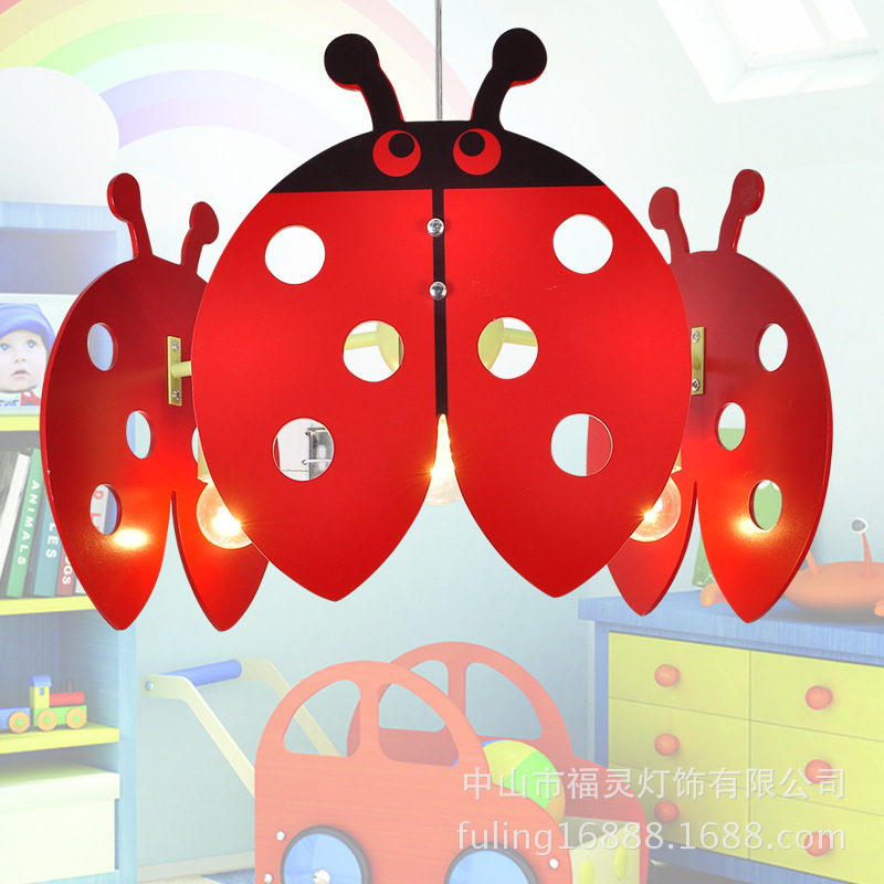 New simple bedroom of children room chandelier light sweet and comfortable and lovely lady beetle cartoon boy girlNew simple bedroom of children room chandelier light sweet and comfortable and lovely lady beetle cartoon boy girl