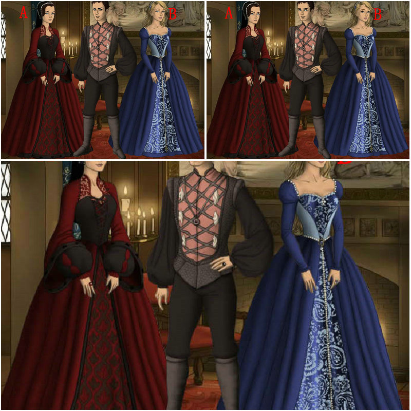 NºHOT SALE!Customer-made Vintage Costumes Gothic/Renaissance dress ...
