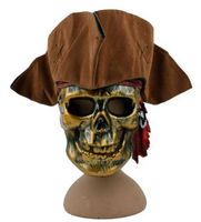 O envio gratuito de chapéu de pirata do dia das bruxas para adultos chapéu de pirata do caribe chapéu engraçado do dia das bruxas cosplay adereços, capitão chapéu de pirata