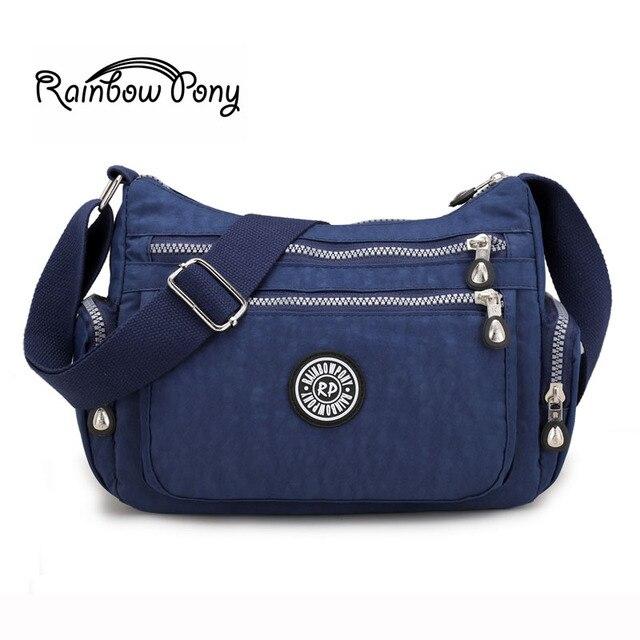 Rainbow Pony New Waterproof Nylon Bags Printing Rbpony Crossbody For Women Handbags Famous Brand