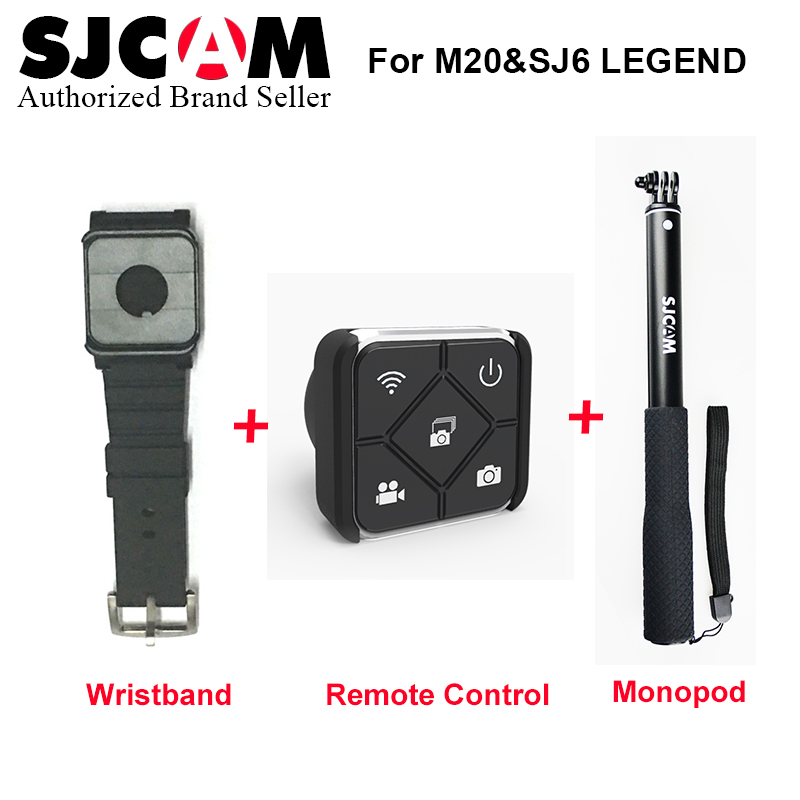 Original SJCAM SJ6 SJ7 Star Accessories Selfie Stick Remote Monopod Wrist Remote watch For SJ CAM SJ6 SJ7 Star Action Camera new arrive sjcam sj7 star sj6 legend accessies 3 axis handheld gimbal for sjcam sj6 sj7 star wifi series cam