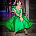 Verde esmeralda Vestidos de Coctel Del Satén Del Arco Del Tanque de La Cremallera Vestido de Fiesta Corto Vestidos de coctel corto Vestido de Cóctel Cocktailkleid