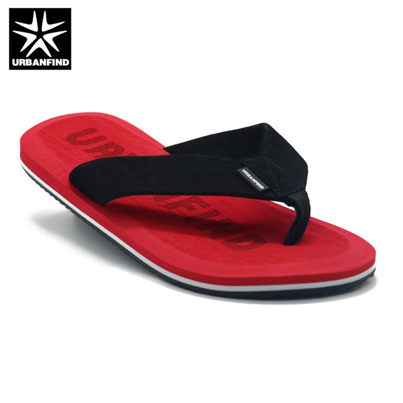 URBANFIND Beach / House Slippers Men Fashion Flip Flops Size 41-46 Designer Man Casual Summer Shoes