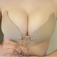 2017 Women Self Adhesive Strapless Bandage Stick Gel Silicone Push Up Invisible Bra Sexy Intimates Underwear