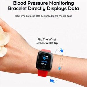 Image 5 - موضة الرياضة ساعة ذكية الرجال النساء ل أندرويد IOS Smartwatch جهاز تعقب للياقة البدنية مقاوم للماء ساعة ذكية Smartwach جديد ساعة اليد