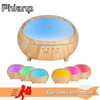 Phlanp LED Wooden Air Humidifier Essential Oil Aroma Lamp Aromatherapy Electric Diffuser Ultrasonic Cool Mist Maker