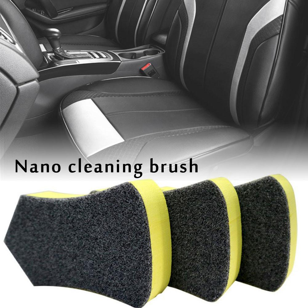 1Pc Nano Cleaning Brush Car Felt Washing Tool For Car Leather Seat Auto Care Detailing Interior Cleaning Brush