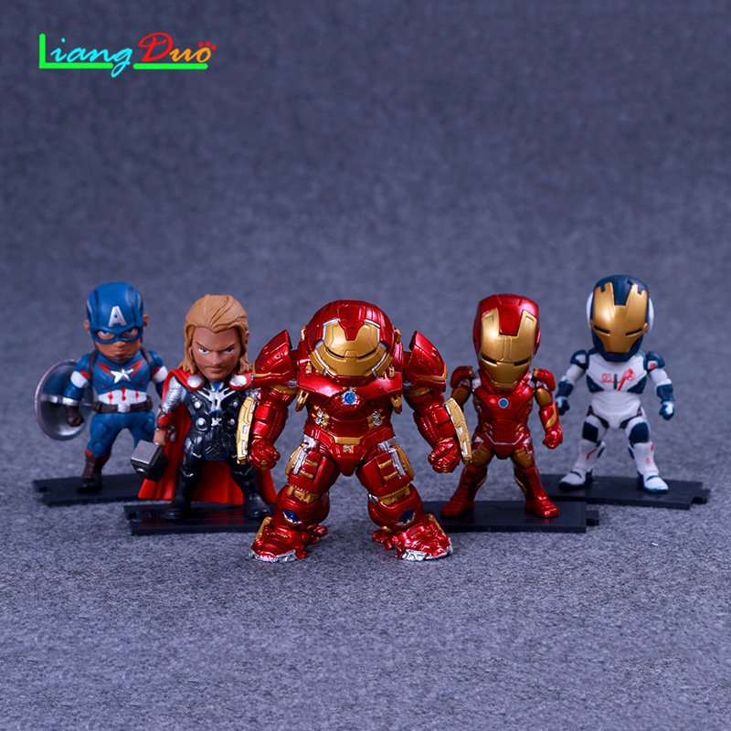 Infinity Iron Man pop playmobil Thor Captain Anime Action Figure PVC Model plastic hot toys collectibles festival geschenken