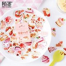46 pçs morango sobremesa adesivos decorativos scrapbooking vara etiqueta diário papelaria álbum planejadores do diário adesivos