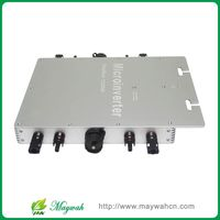 Maywah@ Maysun1200W Solar Power Micro Inverter 22 50VDC to 220VAC Grid Tie Inverter with 4 MPPT Pure Sine Wave Converter