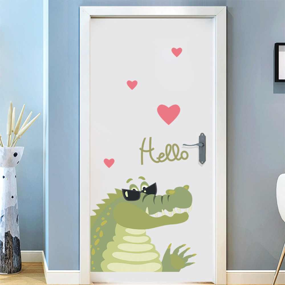 Lovely Sunglasses Dinosaur Eco Friendly Wall Stickers Kids Room Nursery Bedroom Door Decor Removable Vinyl Diy Decals Murals Wall Stickers Aliexpress