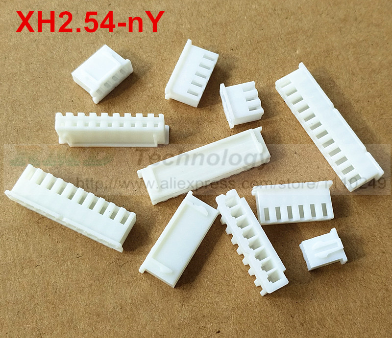 50pcs/lot XH2.54-2 7 12Y XH2.54 2.54 mm Female connector housing 50 pcs 2.54mm connectors 2 - 12pin free shipping