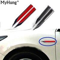 Car Auto Accessories Decoration Sticker Blade Leaf Sticker For Volkswagen Vw Golf 6 Golf 7 2pcs