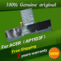 Free shipping 3ICP5/65/88 3ICP5/67/90 AP11D3F AP11D4F  Original laptop Battery For ACER Aspire S3 S3-391 S3-951 MS2346