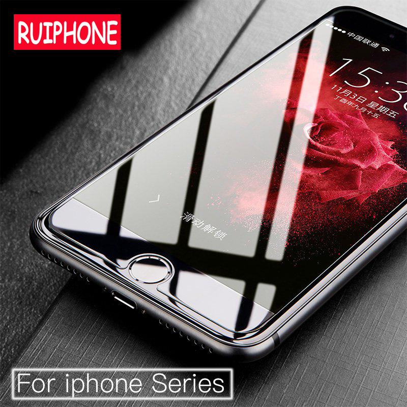 RUIPHONE Tempered Glass for iPhone 7 8 Glass Screen Protector 9H 2.5D 0.26MM <font><b>Protection</b></font> <font><b>Film</b></font> for iPhone 7 8 Plus Tempered Glass